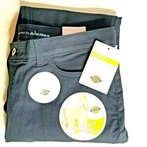 Dickies Womens 5-Pocket Slim Skinny Stretch Twill